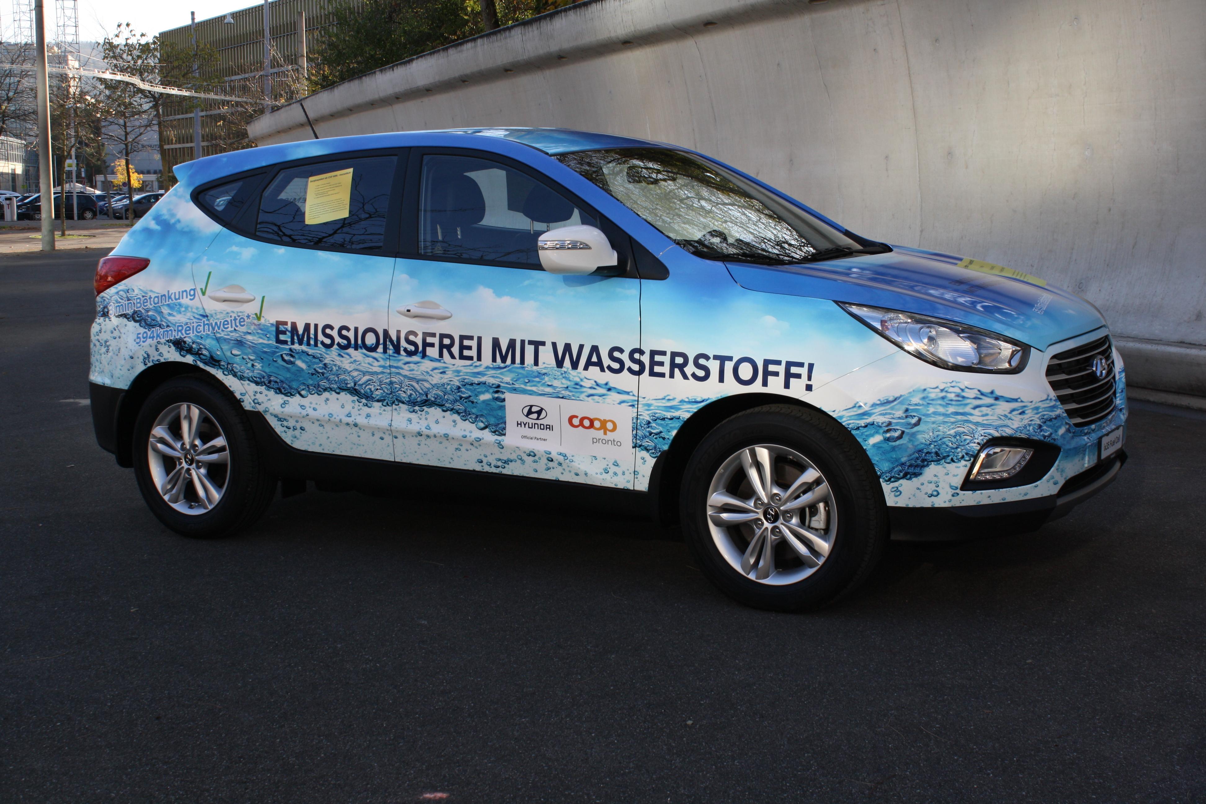 Präsentation Hyundai Fahrzeug auf der Auto Zürich 2017